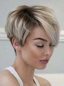 Tendance Coupe & Coiffure Femme Description I really need my bangs to lay like these! Short Pixie Haircuts, Short Hairstyles For Women, Layered Hairstyles, Hairstyles 2018, Asymmetrical Haircuts, Ladies Hairstyles, Wedge Hairstyles, Natural Hairstyles, Short Stacked Haircuts