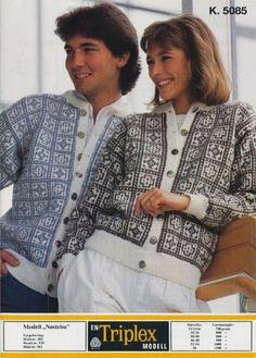 Nøstebu k 5085 Sweater Cardigan, Men Sweater, Norwegian Knitting, Fair Isle Knitting, Knitting Patterns, Knits, Sweaters, Crafts, Craft Ideas