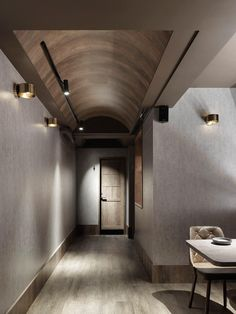 Gypsum Ceiling Design, Ceiling Materials, Joinery Details, Black Ceiling, Residential Interior Design, House Entrance, Corridor, Simple House, Ceilings