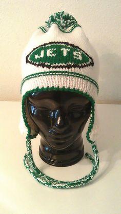 NY Jets ear flap hat Jets Football 893073fbeb7d