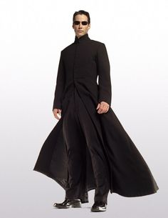 Neo from the Matrix. Another cassock style, elegant and mysterious coat.