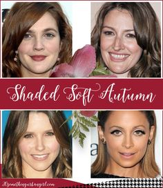 Are you an Autumn-Summer (Soft Autumn)? ~ 30 something Urban Girl - - What are my best colors according to my overall look? This is an easy to understand and detailed post with celebrity examples about the Soft Autumn women. Soft Autumn Deep, Warm Autumn, Autumn Summer, Warm Spring, Soft Autumn Makeup, Soft Autumn Color Palette, Autumn Colours, Seasonal Color Analysis, Olive Skin