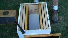 Another way to Install a package of Honey bees, in your hive.