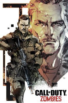 Call of Duty:Black Ops III Zombie Chronicles Tank Dempsey Artwork by Yoji Shinkawa Arte Zombie, Zombie Art, Cod Zombies, Black Ops Game, Black Ops 3 Zombies, Zombie Wallpaper, Videogames, Zombie Tattoos, Call Of Duty Zombies