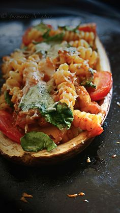 Baked Aubergine by turnermicnspice #Aubergine #Eggplant #Pasta