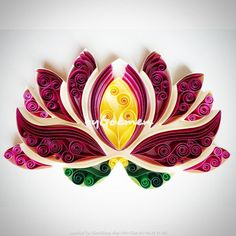 Made by Atölyesi- Pictures about quilled Lotus and Water lily (Searched by Châu Khang)