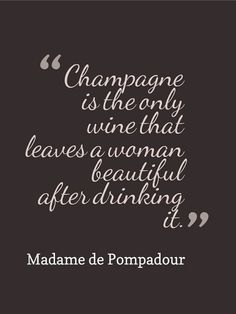 Champagne is beautiful!