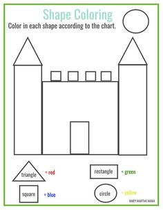 Shapes Worksheets for Preschool [Free Printables] – Mary Martha Mama - Preschool-Kindergarten Shape Worksheets For Preschool, Shapes Worksheet Kindergarten, Pre K Worksheets, Shapes Worksheets, Preschool Learning Activities, Free Printable Worksheets, Free Preschool, In Kindergarten, Preschool Shapes