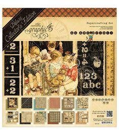 Graphic 45 Deluxe Collector's Edition ABC Primer Papercrafting SetGraphic 45 Deluxe Collector's Edition ABC Primer Papercrafting Set,