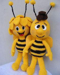 New Amigurumi Ideas. All Beautiful And Cute - Page 7 of 23 - Best Amigurumi Crochet Bee, Crochet Dolls, Crochet Crafts, Crochet Projects, Amigurumi Patterns, Amigurumi Doll, Knitting Patterns, Crochet Patterns, Crochet Disney