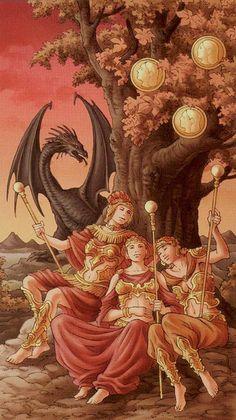 3 d'écus - Tarot déesse universelle par Antonella Platano & Maria Caratti