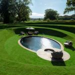 This sunken swimming pool is like a secret hideaway Photography by Will Pryce Located within the gardens of The Walled Garden vacation property in rural Suffolk England lies a nbsp hellip