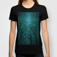 Silently, One by One, the Infinite Stars Blossomed (Geometric Stars Remix) T-shirt Love the design, but it looks weird on the shirt as a rectangle.
