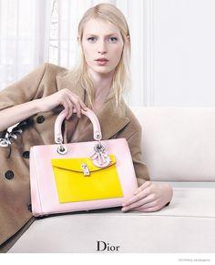 Fei Fei Sun & Julia Nobis Model Dior Accessories for Fall 2014 Ads