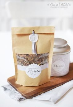 Chai Latte Teemischung I Verpackung Beutel Kraftpapier I Casa di Falcone