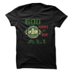 God Know My Name ALI -99 Cool Name Shirt ! - #teen #vintage t shirt. GUARANTEE => https://www.sunfrog.com/Outdoor/God-Know-My-Name-ALI-99-Cool-Name-Shirt-.html?id=60505