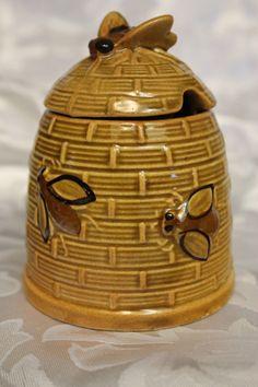 Vintage Bee Hive Honey Pot $14.99
