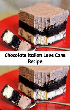 Chocolate Italian Love Cake is the perfect make-ahead dessert! It tastes be. - Kuchen & Torten -This Chocolate Italian Love Cake is the perfect make-ahead dessert! It tastes be. Mini Desserts, Make Ahead Desserts, Christmas Desserts, Love Cake Recipe, Recipe For Mom, Recipe Ideas, Homemade Chocolate, Chocolate Recipes, Italian Chocolate Cake Recipe