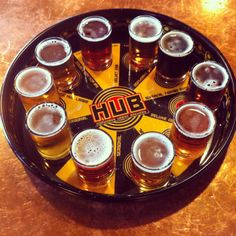 HUB (Hopworks Urban Brewery) is one of our favorite breweries - and we have many favorites. Located on the eastside, they have a variety of beers and nibbles to go with - come hungry.