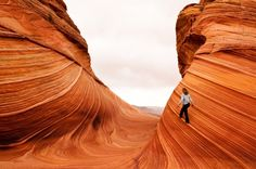 The Wave, Vermilion Cliffs National Monument, Arizona - at noon when there are no shadows