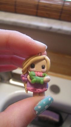 Clay Chibi Rapunzel Charm on Etsy, $5.00
