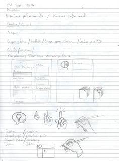 1ère étape : Le contenu, l'organisation, la mise en page générale.