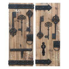 Woodland Imports 2 Piece Magical Key Door Wall Décor Set
