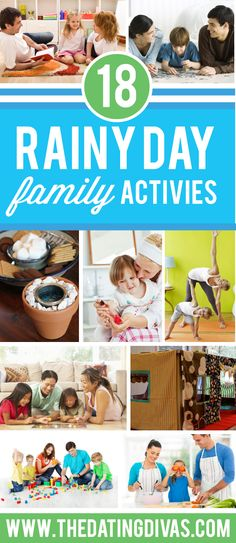 A fun list of indoor activities that are perfect for a rainy day! We've included rainy day activities for kids as well as rainy day activities for adults! Rain Day Activities, Rainy Day Activities For Kids, Rainy Day Fun, Activities For Adults, Summer Activities, Activity Days, Toddler Activities, Toddler Play, Rainy Days
