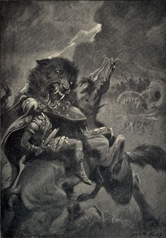 Dorothy Hardy - Odin and Fenris - Myths of the Norsemen by H. A. Guerber - 1909
