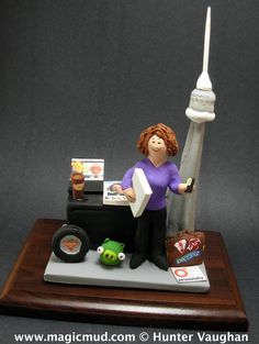 Working Mother's Christmas gift by www.magicmud.com 1 800 231 9814 creating a custom made gift figurine for any woman based on the things she likes to do! ...incorporating her work, sports, family, hobbies, food, drink, shopping, etc. $225 #mom #mother #momsgift #wife #christmas #birthday #anniversary #custom #personalized #xmas #present #award #ChristmasGift #BirthdayGift #sister #girlfriend #aunt #BFF