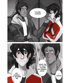 4/7 <<< okay but keith with wavy hair??? He's so cute in this omg <3 Love this comic