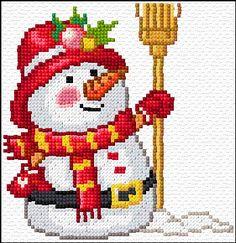 Cross Stitch | Snowman xstitch Chart | Design