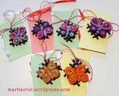 martisoare fluturi colorati, 2015 Education, Handmade, Hand Made, Onderwijs, Learning, Handarbeit
