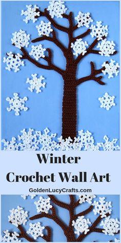 57 Best Ideas For Crochet Christmas Tree Applique Wall Hangings Crochet Wall Art, Crochet Tree, Felt Christmas Decorations, Crochet Christmas Ornaments, Diy Crochet, Crochet Flower Patterns, Crochet Blanket Patterns, Crochet Designs, Applique Wall Hanging