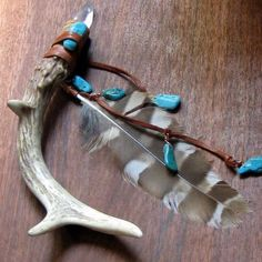 Native Spirit Wand Magic Crystal Wand Deer by ShadowsandSpirits