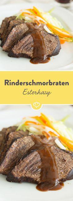 Ein zarter Rinderbraten, dazu butterweiches Gemüse - der Rinderschmorbraten Esterhazy ist in der österreichischen Küche ein echter Klassiker.