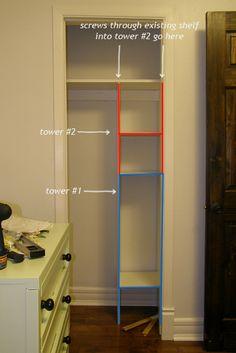House Pretty Blog: Maximizing storage in a tiny closet