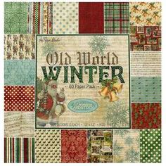 4 x 6 - 80 Sheets Old World Winter Paper Pack Winter Christmas, Vintage Christmas, Christmas Stuff, Rustic Christmas, Scrapbook Paper Crafts, Scrapbooking, Paper Crafting, Foil Paper, Christmas Scrapbook