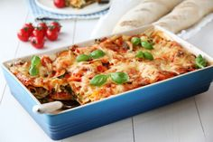 vegetarlasagne Feta, Frisk, Vegetarian Recipes, Recipies, Food And Drink, Yummy Food, Treats, Dinner, Vegetables
