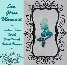 Sea Glass Mermaid Quilt - Free Tutorial and Pattern Ocean Quilt, Beach Quilt, Mermaid Quilt, Mermaid Diy, Sea Theme Rooms, Sewing Crafts, Sewing Projects, Sewing Ideas, Disney Quilt