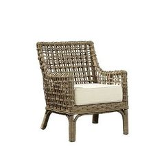 Common Home Nyala Kubu Arm Chair, Natural (Fabric) Outdoor Lounge Chair Cushions, Wicker Chairs, Dining Chairs, Rattan, Classic Furniture, Home Furniture, Furniture Logo, Steel Furniture, Cheap Furniture