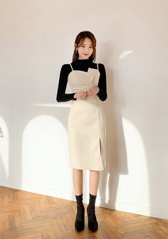 [CHUU] Never Ending Charm Top+Dress Set Source by outfits korean women Korean Fashion Trends, Korean Street Fashion, Korea Fashion, Kpop Fashion, Asian Fashion, Fashion Women, Moda Kpop, Style Ulzzang, The Dress