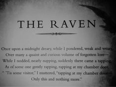 quote the raven | quote Black and White text gothic Edgar Allan Poe The Raven ...