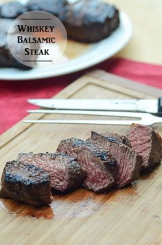 Whiskey Balsamic Steak With Boneless Sirloin Steak, Bourbon Whiskey, Balsamic Vinegar, Olive Oil, Dijon Mustard, Brown Sugar, Ground Pepper