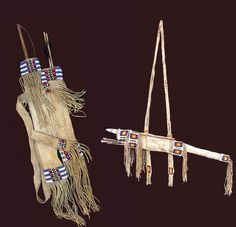 Two Plains Indian Bow Cases Mixed Media by Native Arts Trading