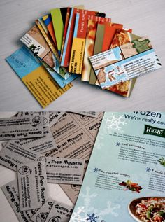 upcycled cereal box business cards!
