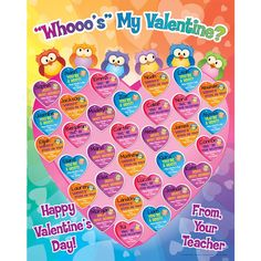 Whooos My Valentine Poster And Magnets Kit