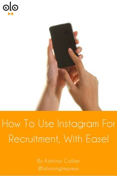 How To Use Instagram For Recruitment, With Ease! by Katrina Collier. Instagram has over 400 million users, with nearly half using it daily. Learn how to use Instagram for recruitment & grab the tool guide.