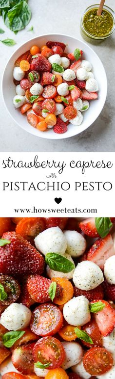 Strawberry Caprese with Pistachio Pesto