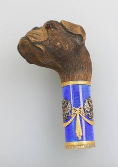 Walking cane grip with enamel : Lot 789